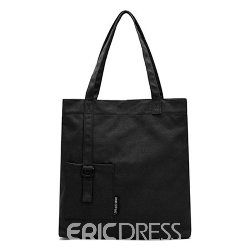 Ericdress Casual Patchwork Canvas Shoulder Bag