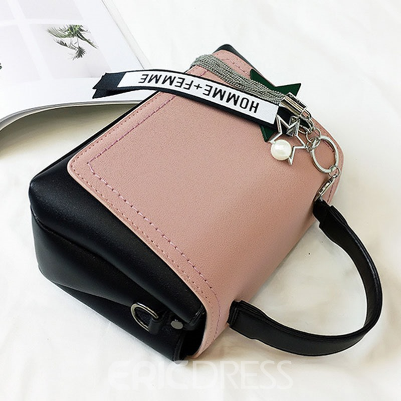 Ericdress Trendy Pendant Color Block Handbag