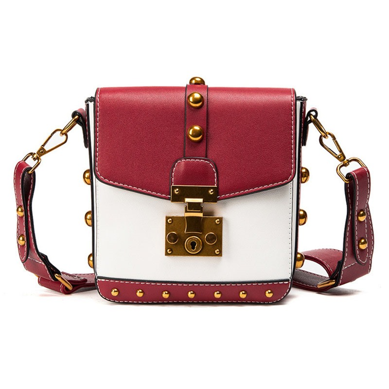 Ericdress Punk Rock Style Rivet Crossbody Bag