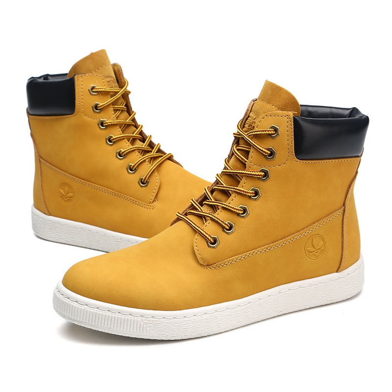 Ericdress Popular Color Block High-Cut Men's Skater Shoes
