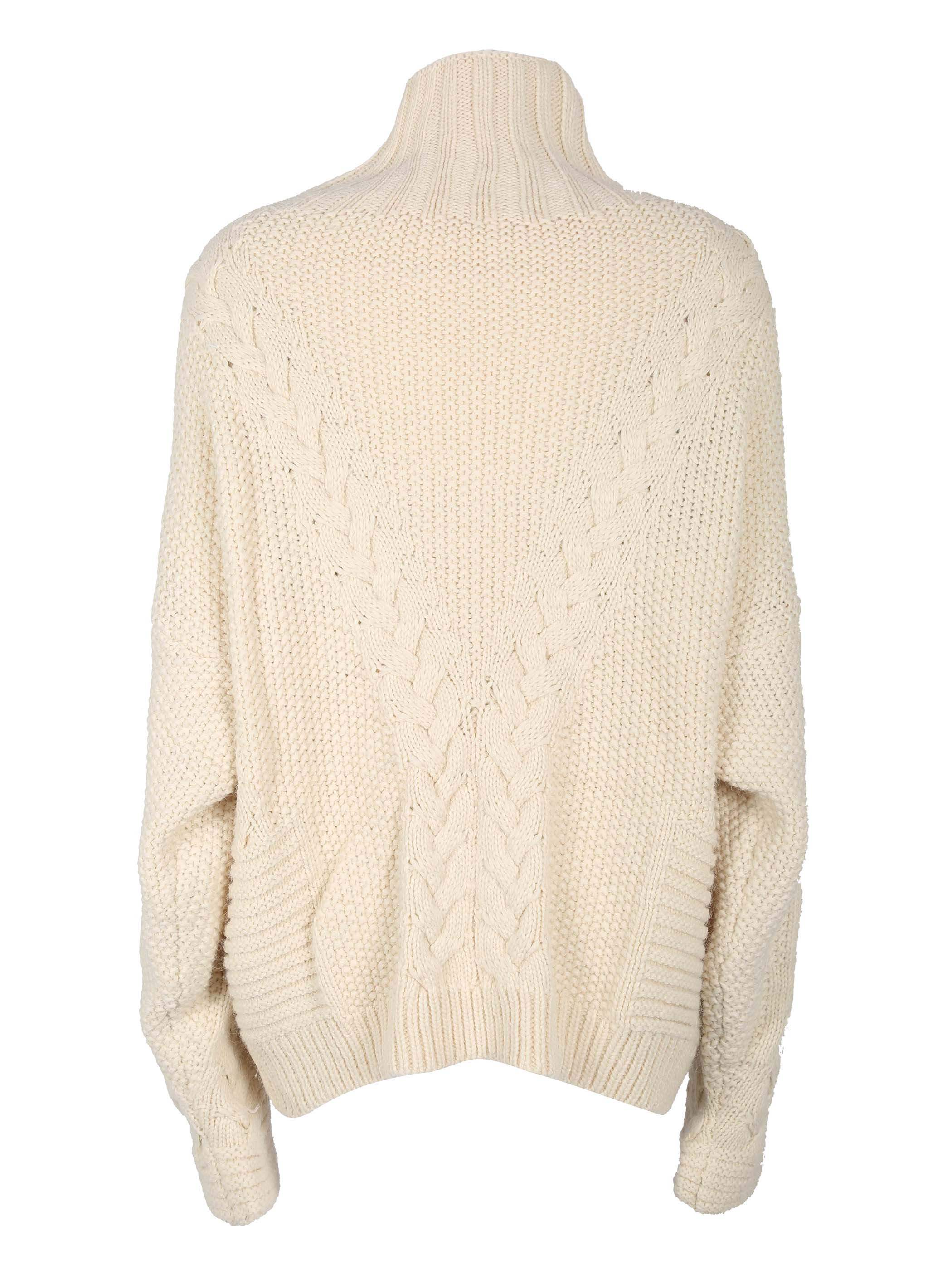 Ericdress High Neck Plain Loose Chunky Knit Sweater