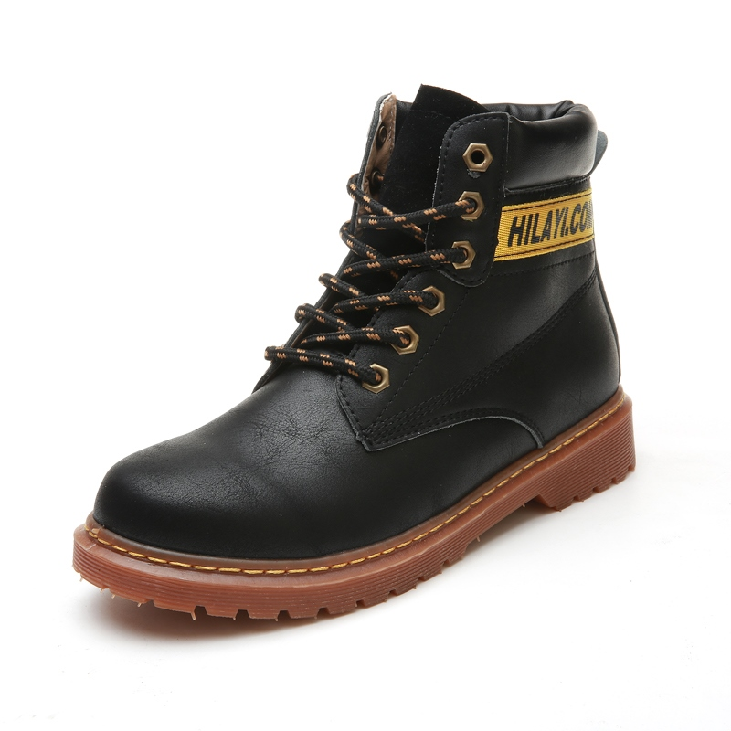 Ericdress Color Block Lace-Up Front Men's Martin Boots