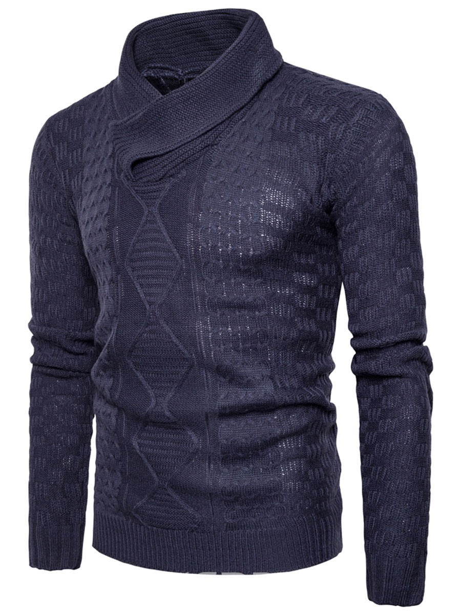 Ericdress Solid Color Pullover Turtleneck Men's Sweater