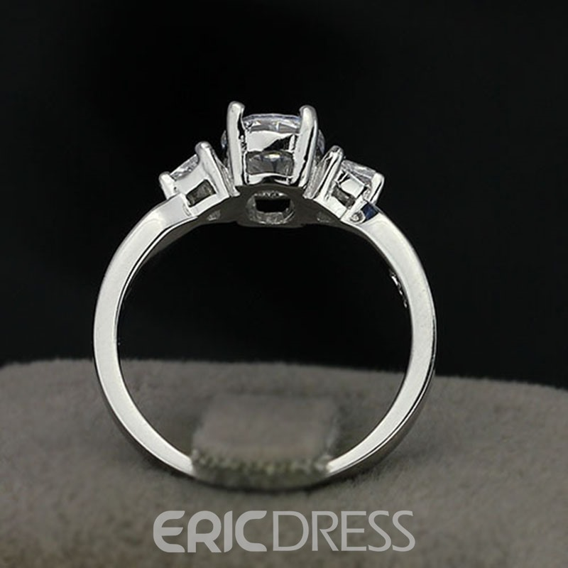 MarkChic Stunning 2CT S925 Sterling Silver Oval Wedding Ring