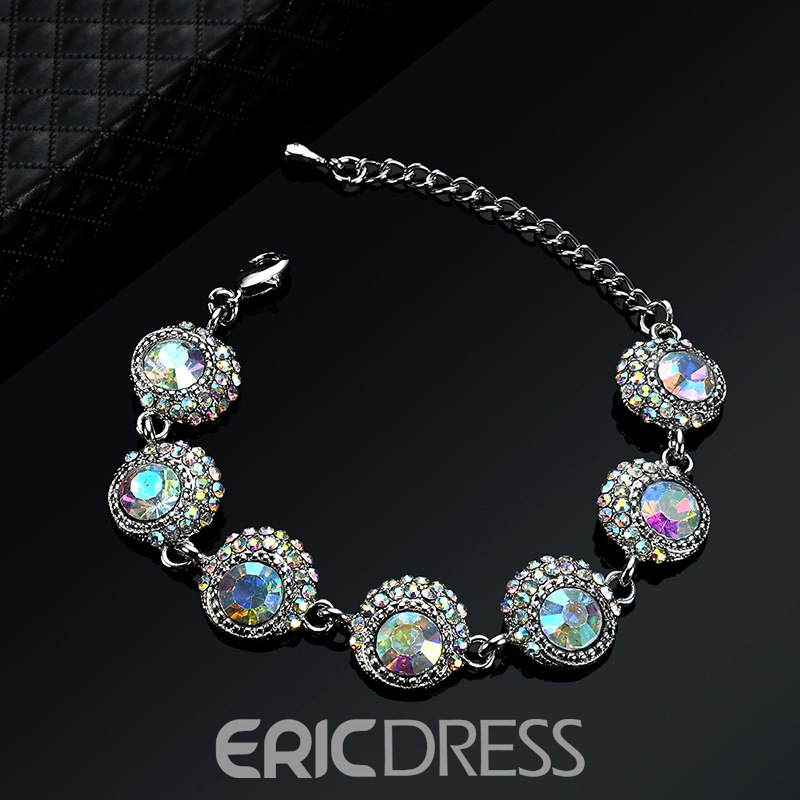 Ericdress Colorful Stones Fashion Bracelet for Women