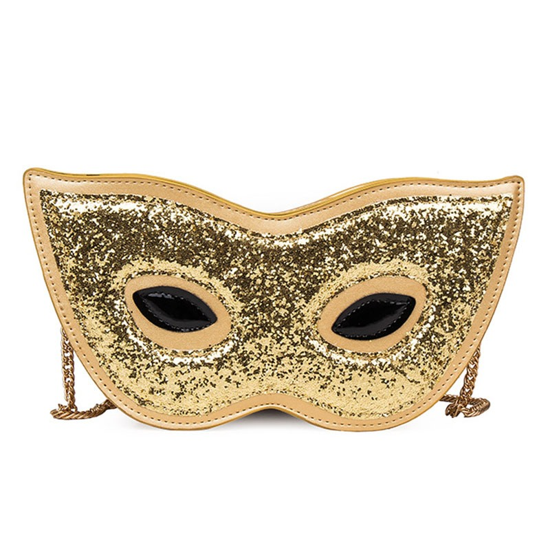 Ericdress Personality Eyepatch Design Sequins Crossbody Bag