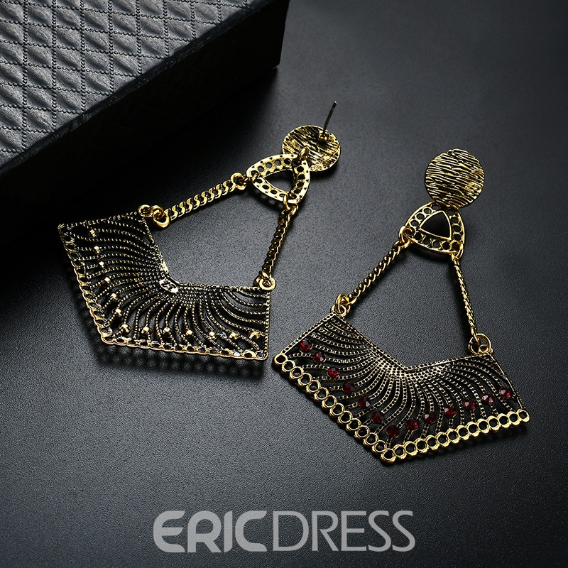 Ericdress Ruby Inlay Pendant Earring for Women