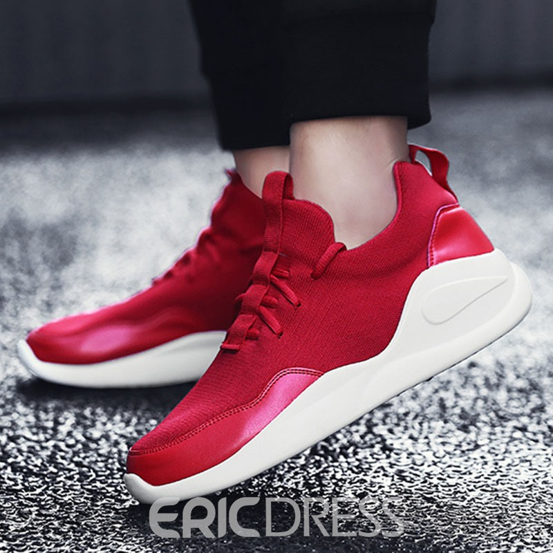 Ericdress Plain Patchwork Low-Cut Men's Athletic Shoes