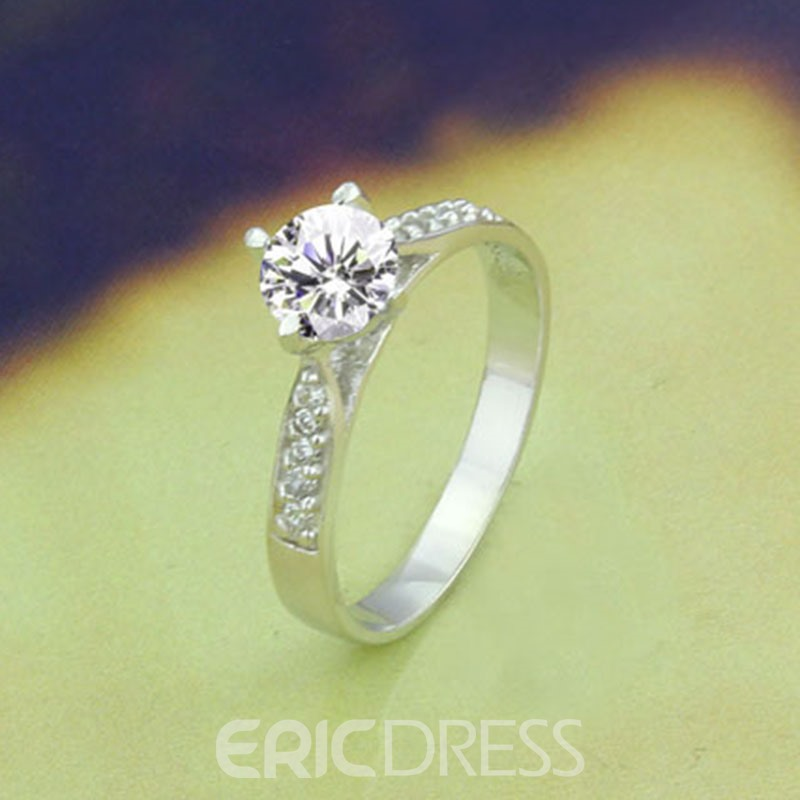MarkChic S925 Sterling Silver 2CT Wedding Ring for Women