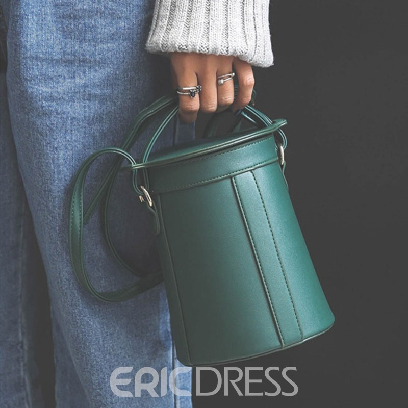 Ericdress Concise Mini Bucket Crossbody Bag