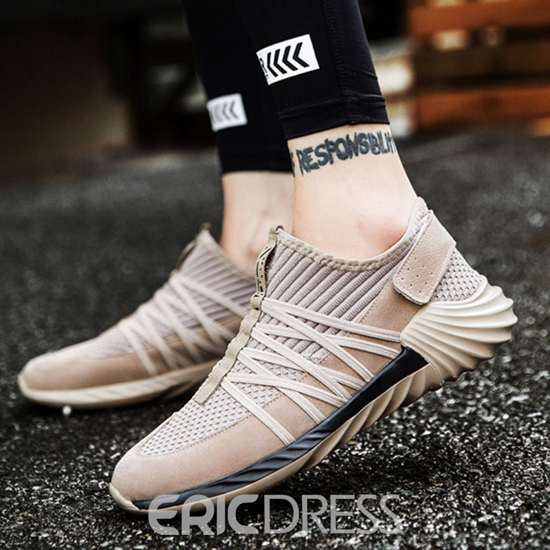 Ericdress Mesh Velcro Patchwork Plain Men's Athletic Shoes