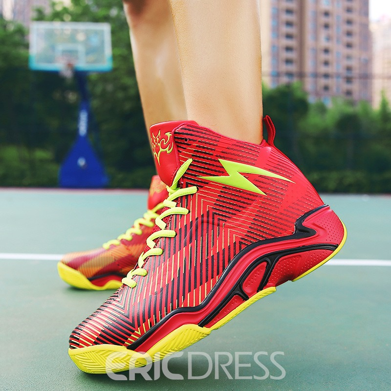 Ericdress All Match Geometric Color Block High-Cut Men's Athletic Shoes