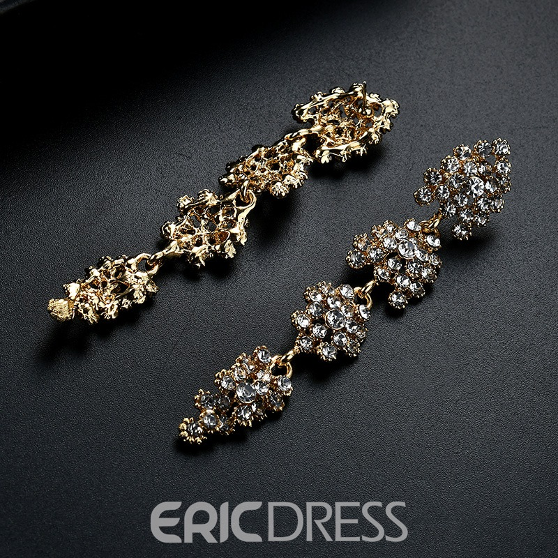 Ericdress Alloy Fully Jewelled Long Earring for Women