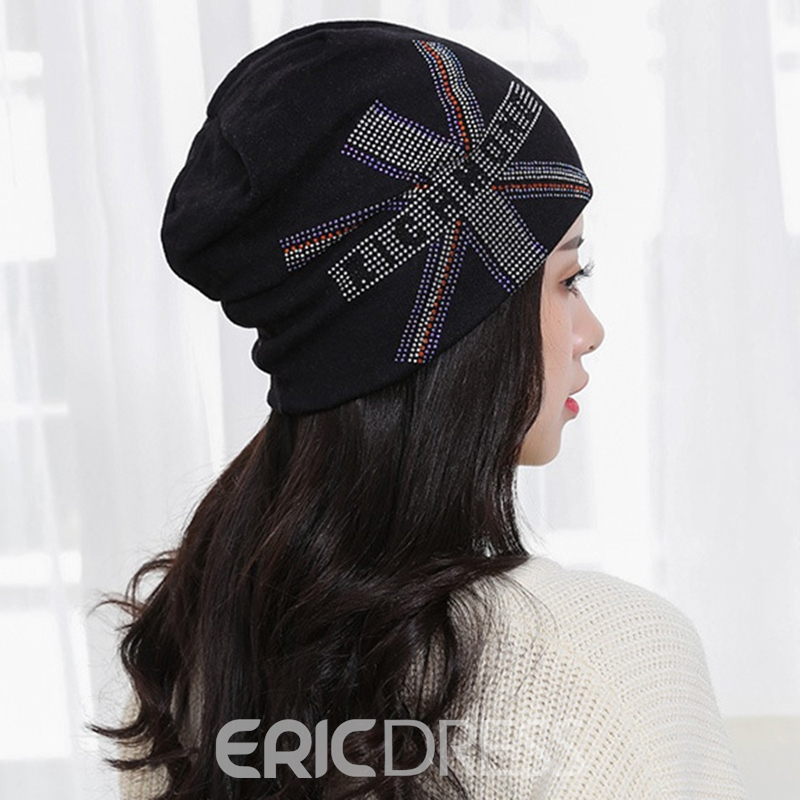 Ericdress Union Jack Hot Drilling Beanie Cozy Hat