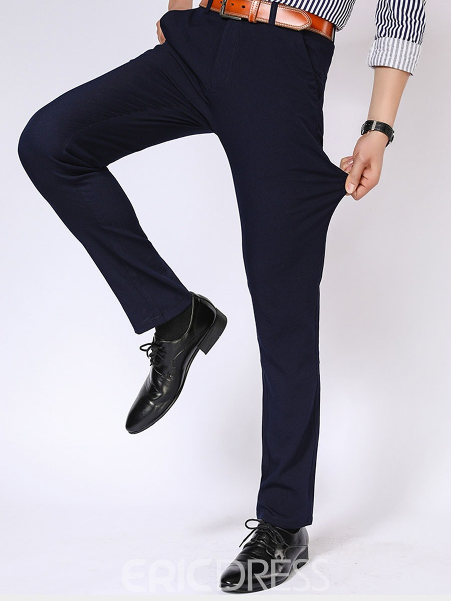 Ericdress Plain Anti Wrinkle Casual Men's Pants