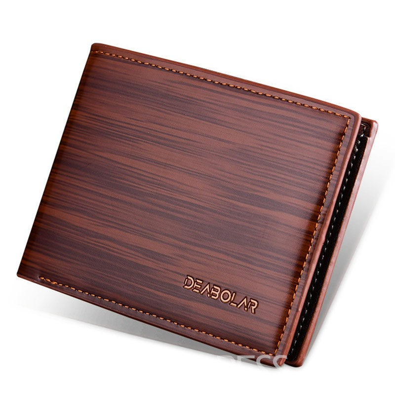 ericdress simplicity solid color pu wallet homme
