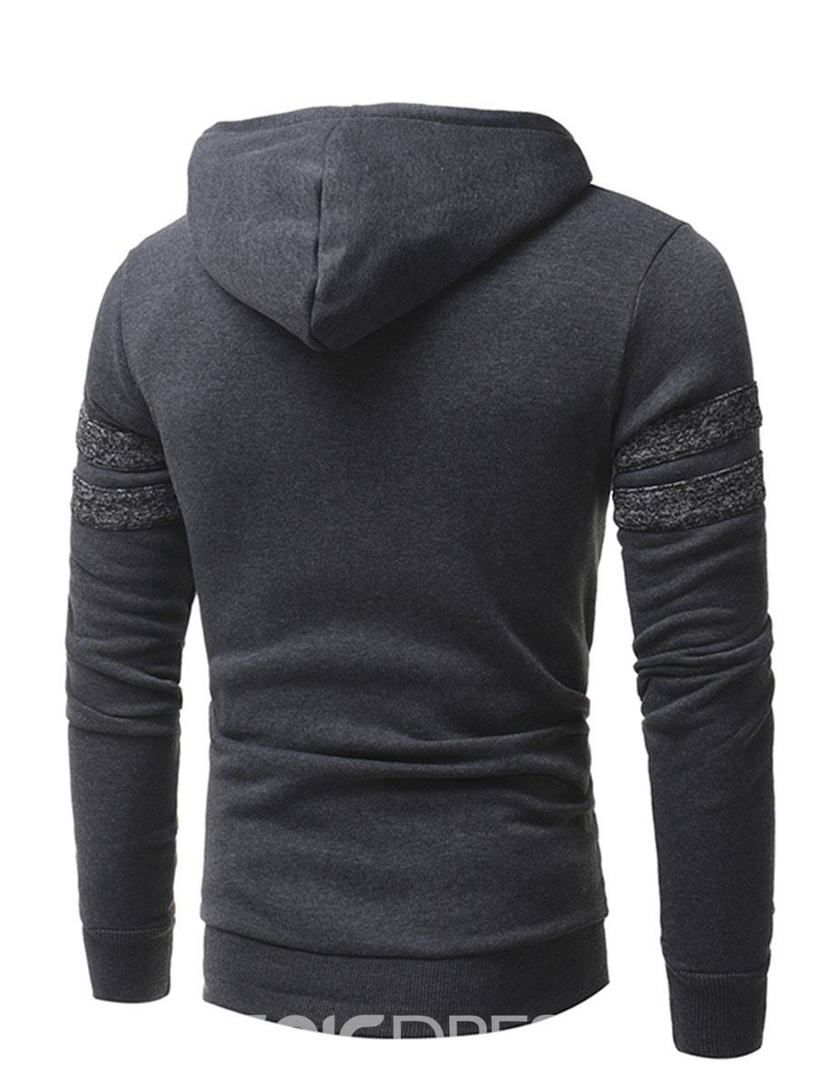 Ericdress Color Block Pocket Patched Casual Men's Sweatshirt