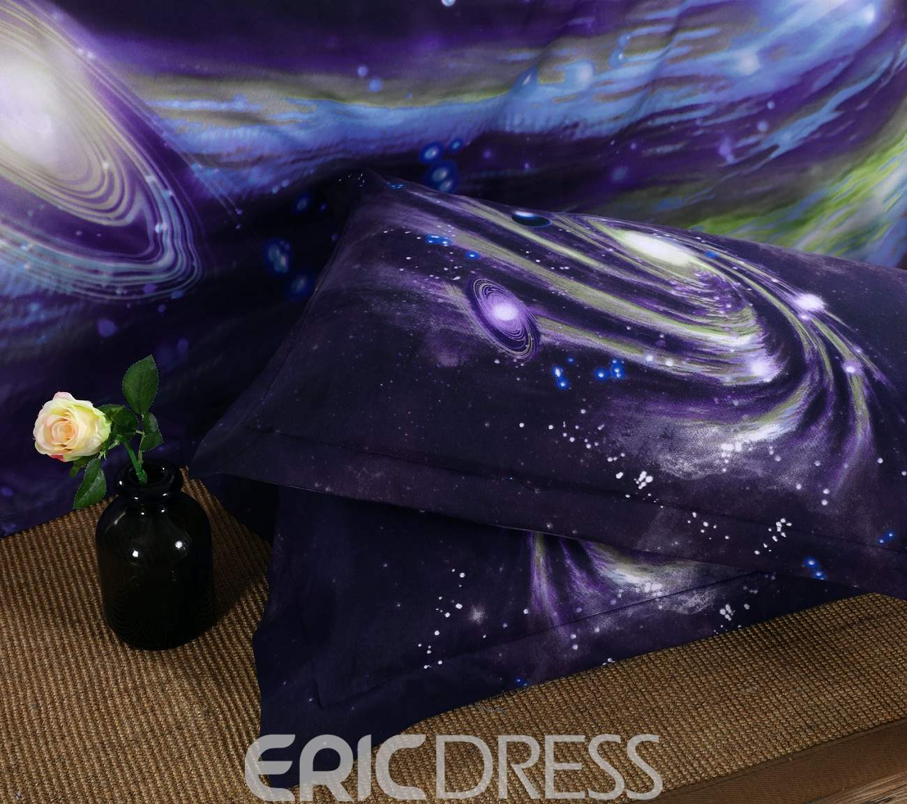 Vivilinen 3D Galaxy Nebula Printed Polyester 4-Piece Bedding Sets/Duvet Covers