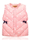 Ericdress Heart-shaped Print Lace And Bowknot Cotton Girls Vest Waistcoats