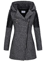 Ericdress Zipper Slim Mid-Length Hooded Jacket - $42.68
