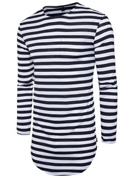 Ericdress Stripe Mid-Length Casual Mens T-Shirt фото