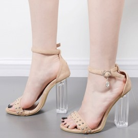Ericdress Popular Rhinestone Rivet Plain Clear Shoes