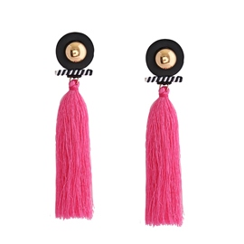 Ericdress Pink Rope Tassel Chic Drop Earring for Women