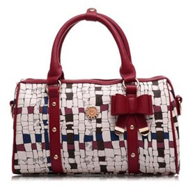 Ericdress Colorful Geometric Bowknot Decoration Handbag