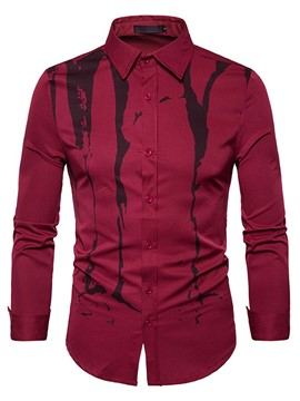 Ericdress Long Sleeve Casual Print Men's Shirt