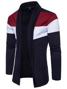 Ericdress color block cardigan vogue casual hommes tricots