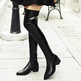 Ericdress Popular Pointed Toe Plain Knee High Boots