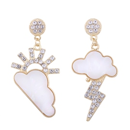 Ericdress Creative Irregular Weather Pattter Earring