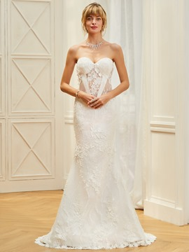 Ericdress Sweetheart Lace Mermaid Wedding Dress