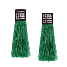 Ericdress High-End Diamante Candy Color Tassel Earring