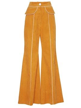 Ericdress Wide Leg Corduroy Women's Pants
