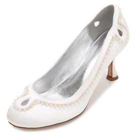 Ericdress Hollow Slip-On Stiletto Heel Wedding Shoes with Beads