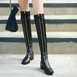 Ericdress Popular Square Toe Zipper Plain Knee High Boots