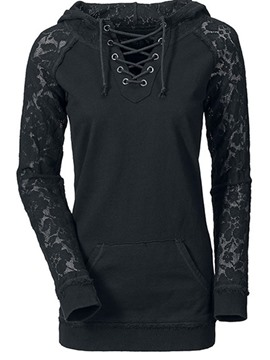 Ericdress schlankes patchwork lace-up cool hoodie