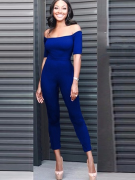 Ericdress Skinny Off Shoulder Women's Jumpsuit