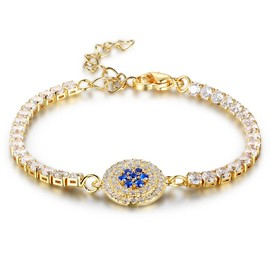 Ericdress Luxury Sapphire Diamond Women's Bracelet
