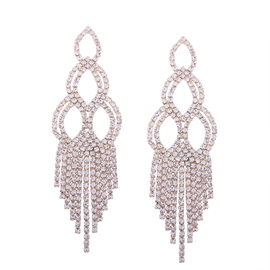 Ericdress Stunning Tassel Diamante Party Accessories Drop Earring