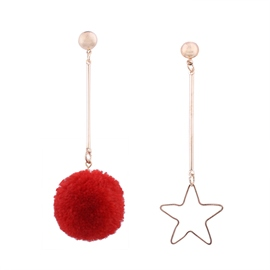 Ericdress Irregular Pendant Star&Ball Drop Earring