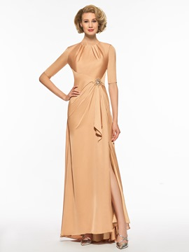 Ericdress Scoop A Line Backless Half Sleeves