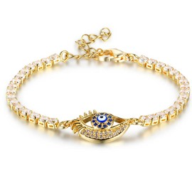 Ericdress Blue Eye Diamante Women's Bracelet