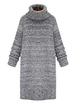 Ericdress High Neck Thread Pullover Winter Sweater Dress