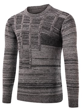 Ericdress Stripe Jacquard Pullover Vogue Men's Sweater