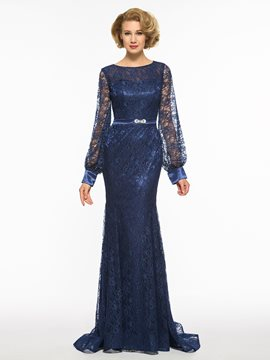 Ericdress Mermaid Long Sleeves Lace Mother Of The Bride Dress