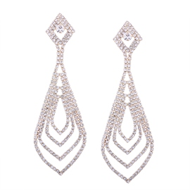 Ericdress Elegant Diamante Drop Earring for Women