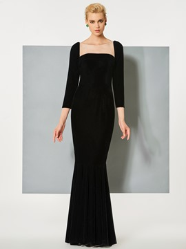Ericdress 3/4 Sleeve Bateau Neck Mermaid Evening Dress
