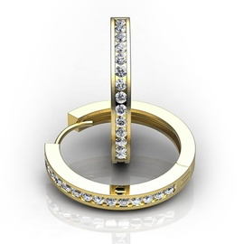Ericdress Popular Imitation Diamond Hoop for Women